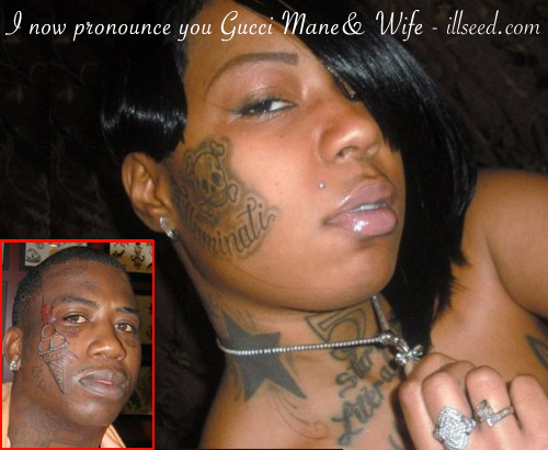 Tattoo face girl In tats we trust the one women Gucci Mane could seek and